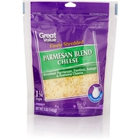 Great Value Cheese Finely Shredded Parmesan Blend Food Product Image