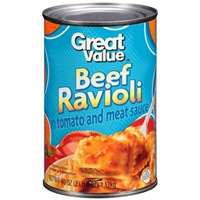 Great Value Beef Ravioli In Tomato & Meat Sauce Food Product Image