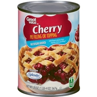 Great Value Pie Filling No Sugar Added Cherry Food Product Image