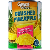 Great Value Pineapple Crushed Food Product Image