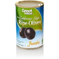 Great Value Olives California Ripe Pitted Jumbo Food Product Image