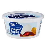 Great Value Whipped Topping Food Product Image