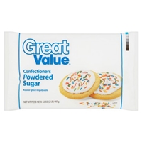 Great Value Powdered Sugar Confectioners Food Product Image