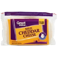 Great Value Cheese Mild Cheddar Food Product Image