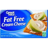 Great Value Cream Cheese Fat Free Food Product Image