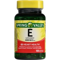 Spring Valley E Vitamin Heart/Immune Health Dietary Supplement 100 Ct Food Product Image