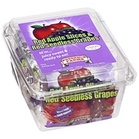 Peterson Farms Apple Slices & Seedless Grapes Red Food Product Image