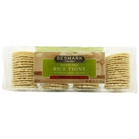 Sesmark Rice Thins Brown Rice Snack Crackers Food Product Image