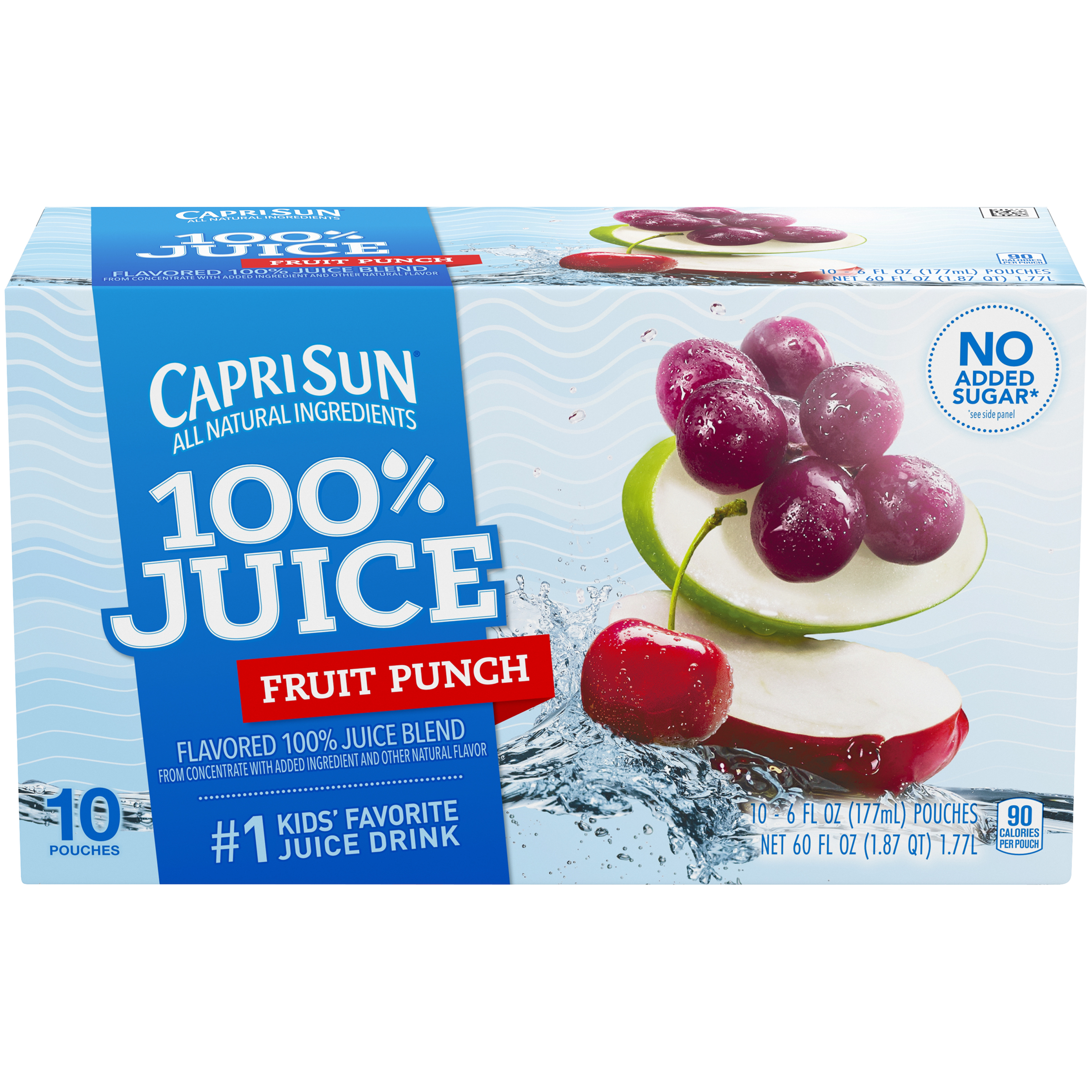 Capri Sun 100% Juice Fruit Punch - 10 CT Food Product Image