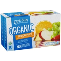 Capri Sun Organic Juice Drink Pouches Tropical Punch - 10 CT Food Product Image