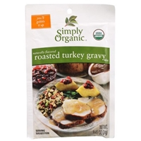 Simply Organic Roasted Turkey Flavored Gravy Mix Food Product Image