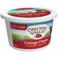 Organic Valley Cottage Cheese 4% Milkfat Small Curd Food Product Image
