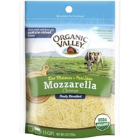 Organic Valley Mozzarella Cheese Finely Shredded Food Product Image