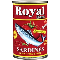 Royal Best Sardines Chili In Spicy Tomato Sauce Food Product Image