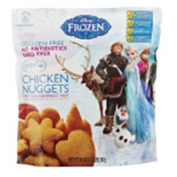 Golden Platter Gluten Free Disney Frozen Chicken Nuggets Food Product Image