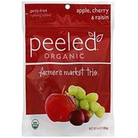 Peeled Dried Fruit Snacks Organic, Farmer's Market Trio Food Product Image