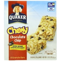 Chocolate Chip Granola Bars Food Product Image