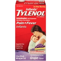 Tylenol Infant's Grape Flavor Acetaminophen Pain Reliever/Fever Reducer Liquid for Children Food Product Image