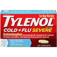 Tylenol Cold & Flu Severe Caplets - 24 Ct Food Product Image