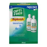 Opti-Free Replenish Multi-Purpose Disinfecting Solution Enhanced Comfort Twin Pack Food Product Image