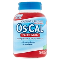 Os-Cal Calcium + D3 Supplement Caplets - 160 CT Food Product Image