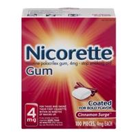 Nicorette Gum 4mg Cinnamon Surge - 100 CT Food Product Image
