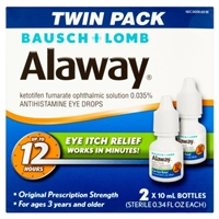 Bausch + Lomb Alaway Allergy Eye Itch Relief Twin Pack Food Product Image