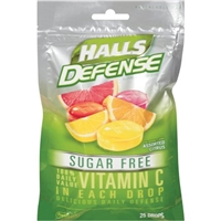Halls Defense Sugar Free Vitamin C Drops Assorted Citrus - 25 CT Food Product Image