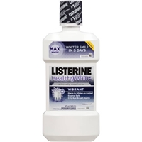 Listerine Healthy White Anticavity Fluoride Mouthwash Clean Mint Food Product Image