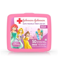 Band-Aid Safe Travels First Aid Kit 50 Essential Items Disney Princess Food Product Image
