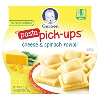 Gerber Graduates Pasta Pick-ups - Spinach & Cheese Ravioli 6oz Food Product Image