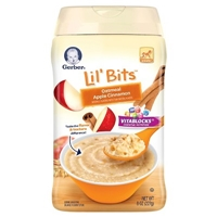 Gerber Lil' Bits Oatmeal Apple Cinnamon Cereal - 8oz Food Product Image