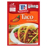 McCormick Hot Taco Seasoning Mix 1.25 oz Food Product Image