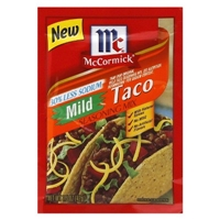 McCormick Mild Taco Seasoning 1.5 oz Food Product Image