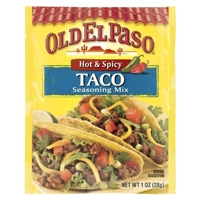 Old El Paso Hot & Spicy Taco Seasoning Mix 1.25 oz Food Product Image