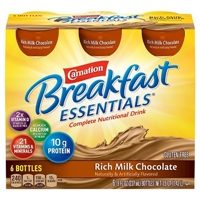Carnation Breakfast Essentials Ready to Drink Rich Milk Chocolate 8 oz 6 count Food Product Image