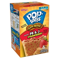 Pop-Tarts Gone Nutty PB & J Strawberry 6 ct 10.5 oz Food Product Image