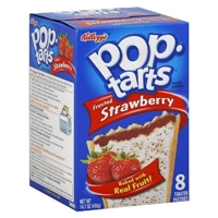 Kellogg's Pop-Tarts Frosted Strawberry Pastries 8 ct Food Product Image