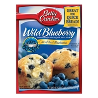 Betty Crocker Blueberry Muffin Mix 16.9 oz Food Product Image