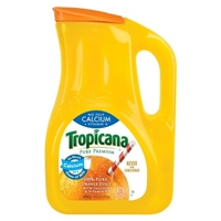 Tropicana Pure Premium No Pulp Calcium + Vitamin D 100 % Pure Orange Juice 89 fl oz Food Product Image