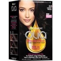 Garnier Olia Oil Powered Permanent Hair Color 3.0, Darkest Brown Food Product Image