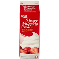 Great Value Whipping Cream Heavy Food Product Image