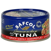 Safcol Tuna Chunk Light, With Spicy Chili (Chipotle) Food Product Image