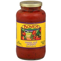 Bove's Sweet Red Pepper Pasta Sauce Food Product Image