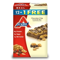 Atkins Chocolate Chip Granola Bar (13 ct.) Food Product Image