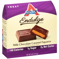 Atkins Endulge Milk Chocolate Caramel Squares Food Product Image