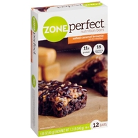 Zone Perfect Nutrition Bars Salted Caramel Brownie - 12 CT Food Product Image