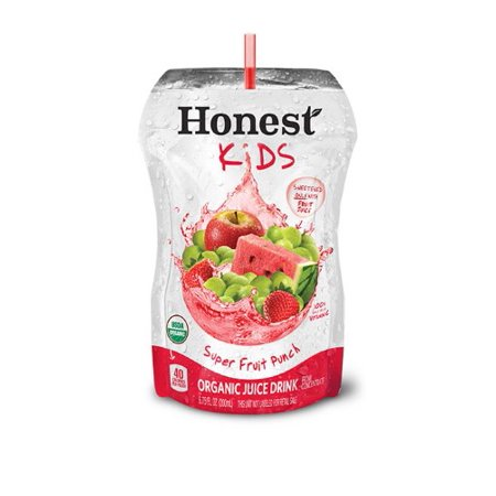 Honest Kids Organic Juice Drink Pouches Super Fruit Punch - 8 CT Food Product Image