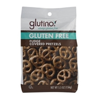Glutino Gluten Free Fudge Covered Pretzels Food Product Image