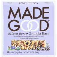 Made Good Organic Mixed Berry Granola Bars Food Product Image